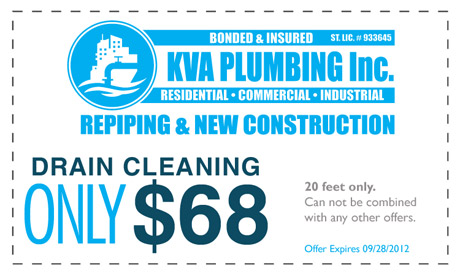 Drain Cleaning for $68